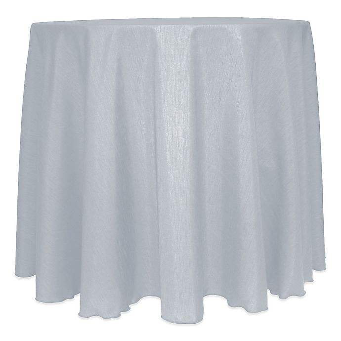 Alternate image 1 for Majestic Satin Finished 120-Inch Round Tablecloth in Silver