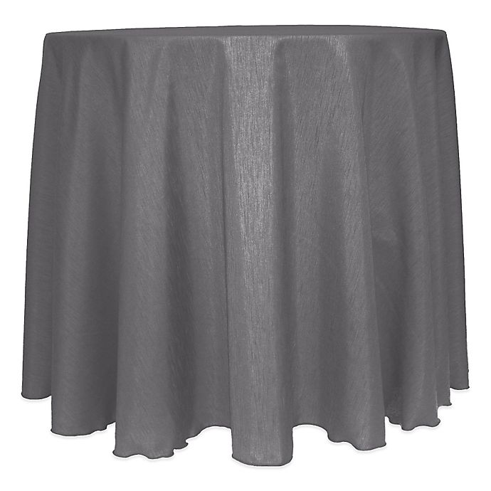 Alternate image 1 for Majestic Satin Finished 120-Inch Round Tablecloth in Charcoal