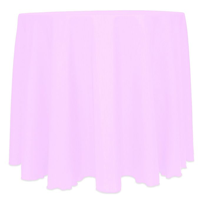 Alternate image 1 for Majestic Satin Finished 120-Inch Round Tablecloth in Pink