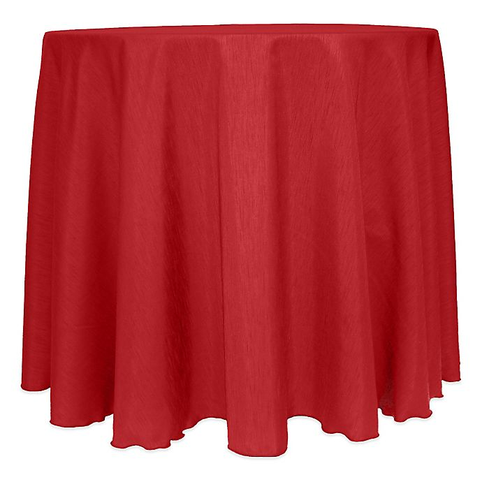 Alternate image 1 for Majestic Satin Finished 120-Inch Round Tablecloth in Holiday Red