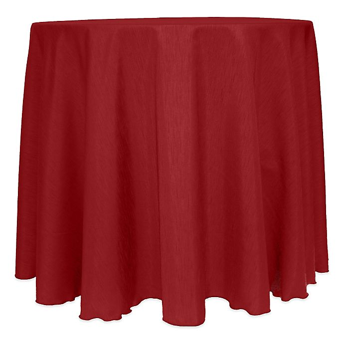 Alternate image 1 for Majestic Satin Finished 120-Inch Round Tablecloth in Cherry Red