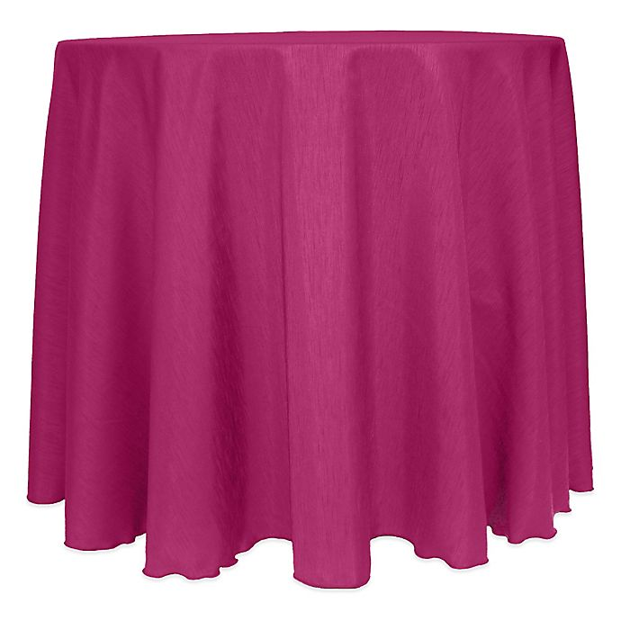 Alternate image 1 for Majestic Satin Finished 120-Inch Round Tablecloth in Raspberry