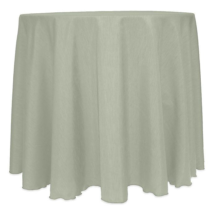 Alternate image 1 for Majestic Satin Finished 120-Inch Round Tablecloth in Sage