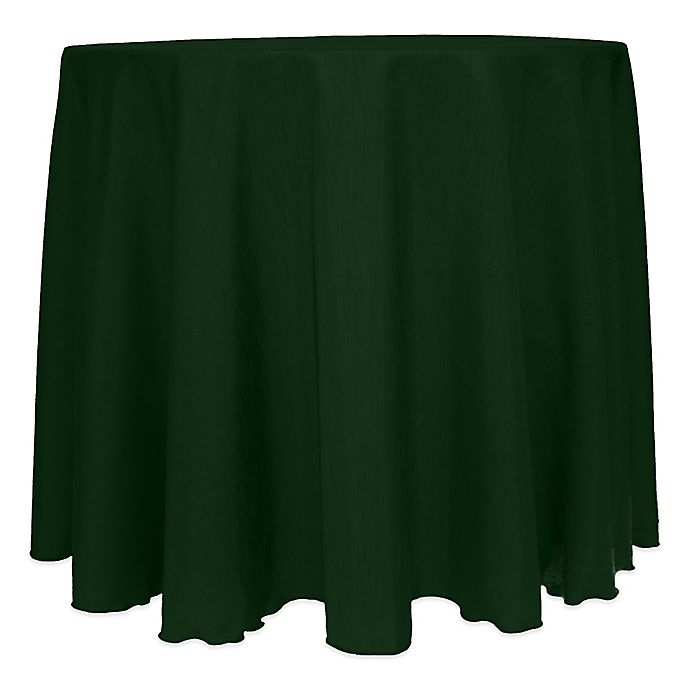 Alternate image 1 for Majestic Satin Finished 120-Inch Round Tablecloth in Hunter