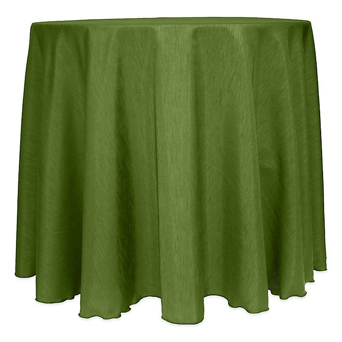 Alternate image 1 for Majestic Satin Finished 120-Inch Round Tablecloth in Moss