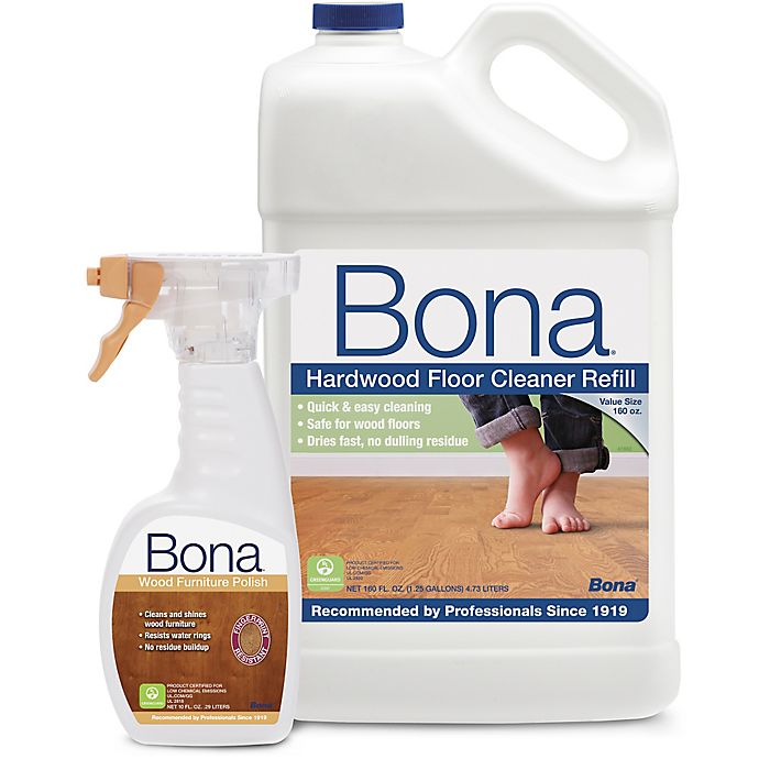 Bona Hardwood Floor Cleaner Refill With Wood Furniture Polish