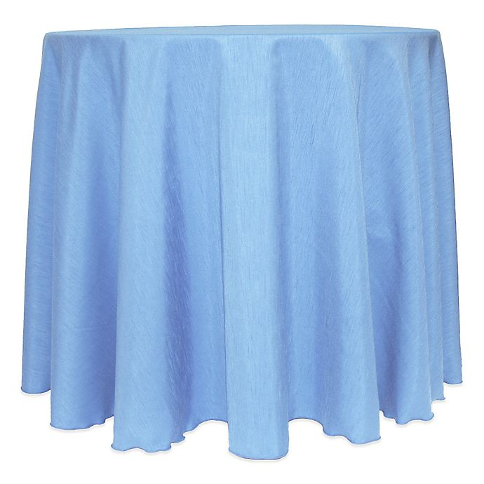 Alternate image 1 for Majestic Satin Finished 120-Inch Round Tablecloth in Light Blue