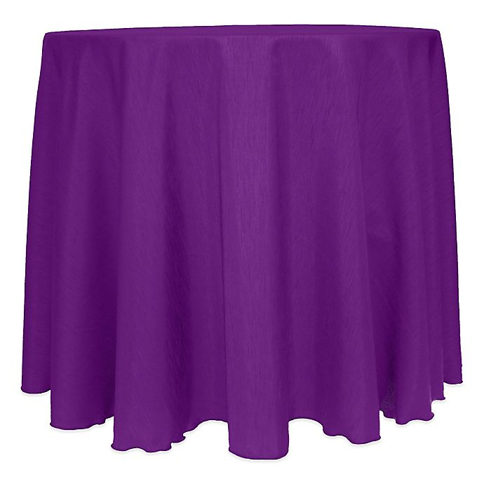Alternate image 1 for Majestic Satin Finished 120-Inch Round Tablecloth in Plum