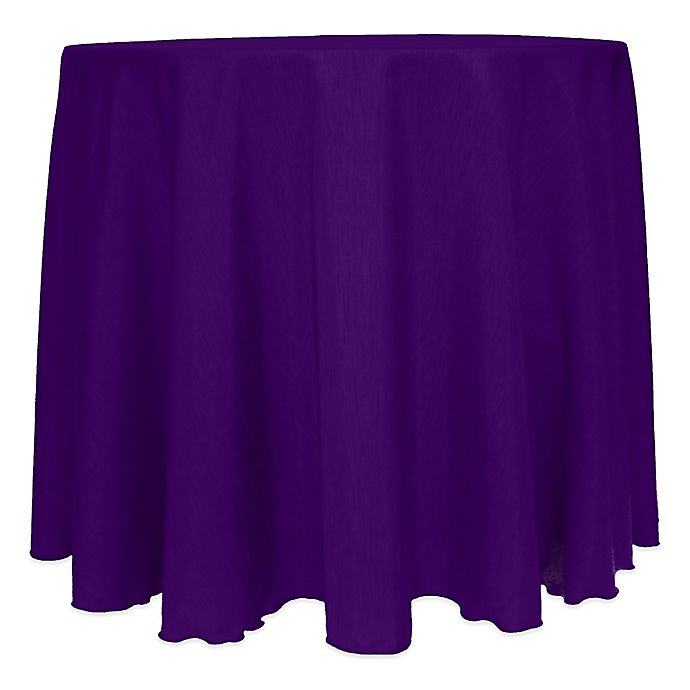 Alternate image 1 for Majestic Satin Finished 120-Inch Round Tablecloth in Purple