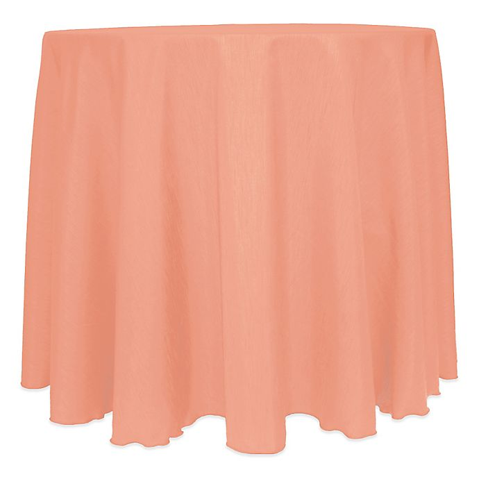 Alternate image 1 for Majestic Satin Finished 120-Inch Round Tablecloth in Coral