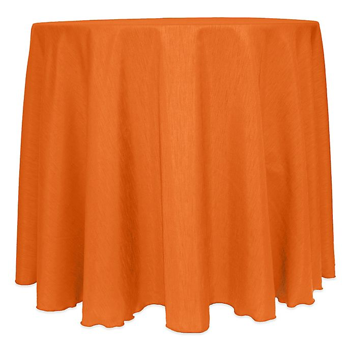 Alternate image 1 for Majestic Satin Finished 120-Inch Round Tablecloth in Orange