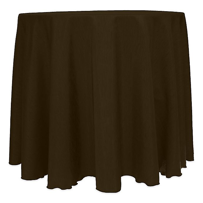 Alternate image 1 for Majestic Satin Finished 108-Inch Round Tablecloth in Espresso
