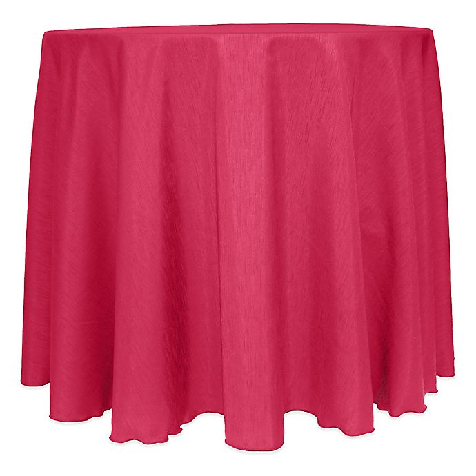 Alternate image 1 for Majestic Satin Finished 120-Inch Round Tablecloth in Watermelon