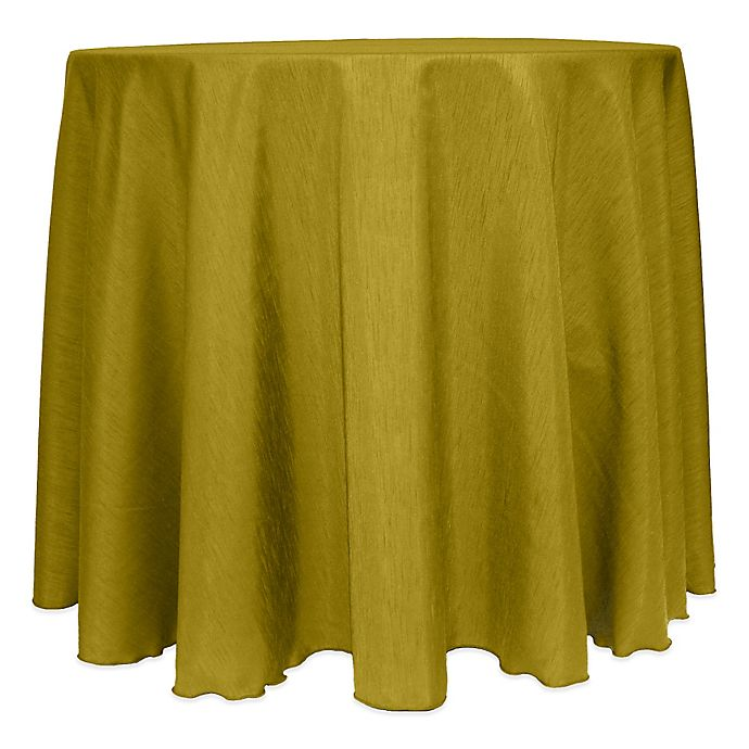 Alternate image 1 for Majestic Satin Finished 120-Inch Round Tablecloth in Acid Green