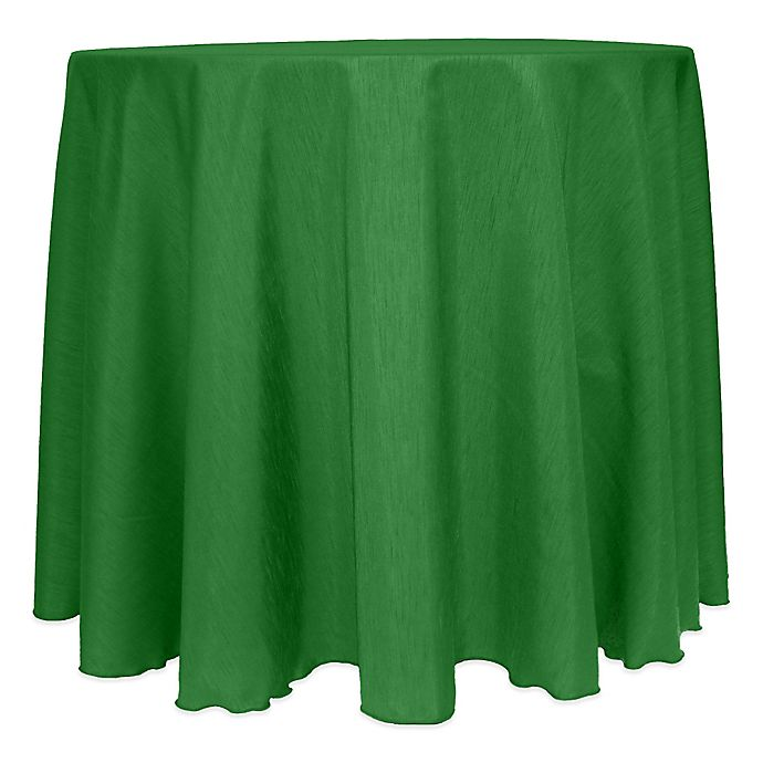 Alternate image 1 for Majestic Satin Finished 120-Inch Round Tablecloth in Emerald