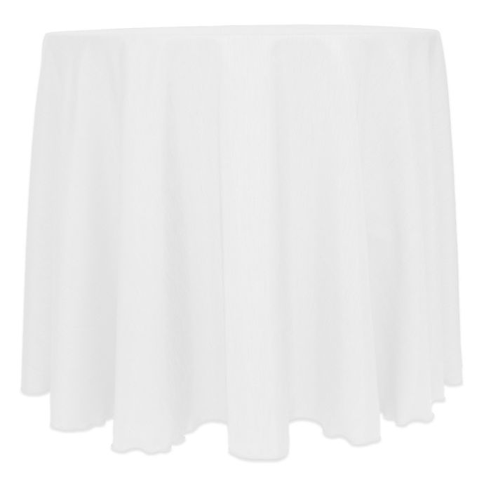 Alternate image 1 for Ultimate Textile Majestic 132-Inch Round Tablecloth in White