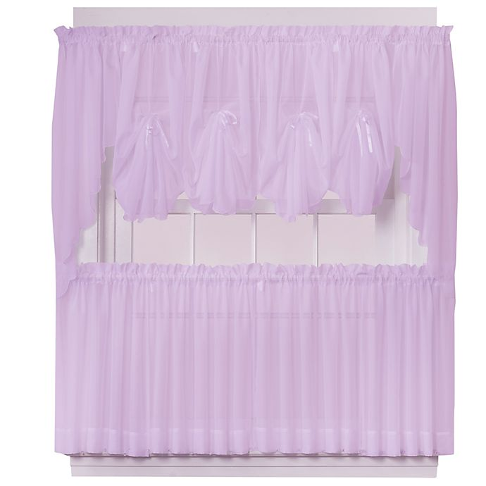 Alternate image 1 for Emelia 38-Inch Window Curtain Swag Pair in Lilac