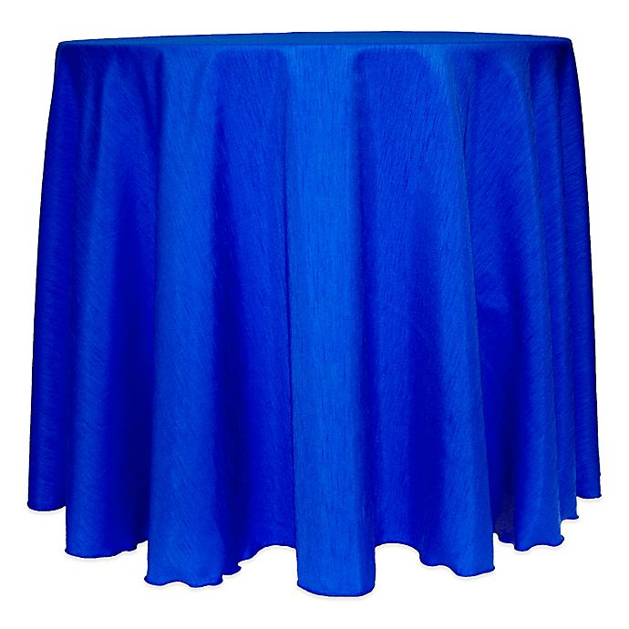 Alternate image 1 for Majestic Satin Finished 132-Inch Round Tablecloth in Royal