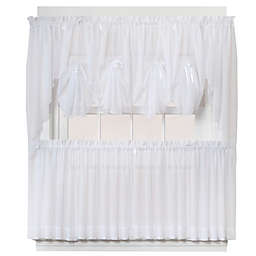 Emelia 38-Inch Window Curtain Swag Pair in White