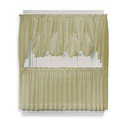 Emelia 38-Inch Window Curtain Swag Pair in Leaf