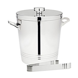 Top Shelf Double Wall Ice Bucket with Tongs