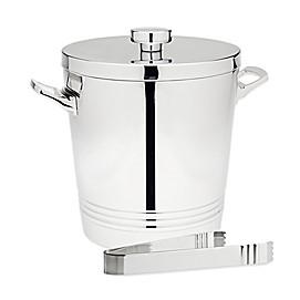 Top Shelf Double Wall Ice Bucket with Tongs