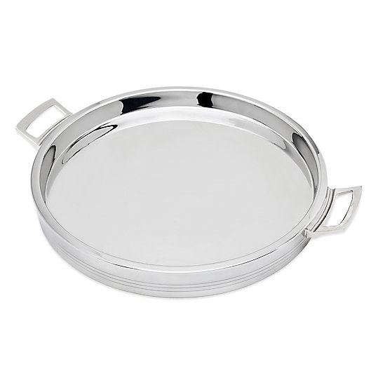 Alternate image 1 for Top Shelf 12.5-Inch Double Wall Round Bar Tray