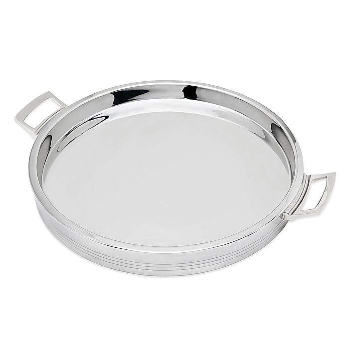 Alternate image 1 for Top Shelf Silver Stainless Steel Double Wall Round Tray