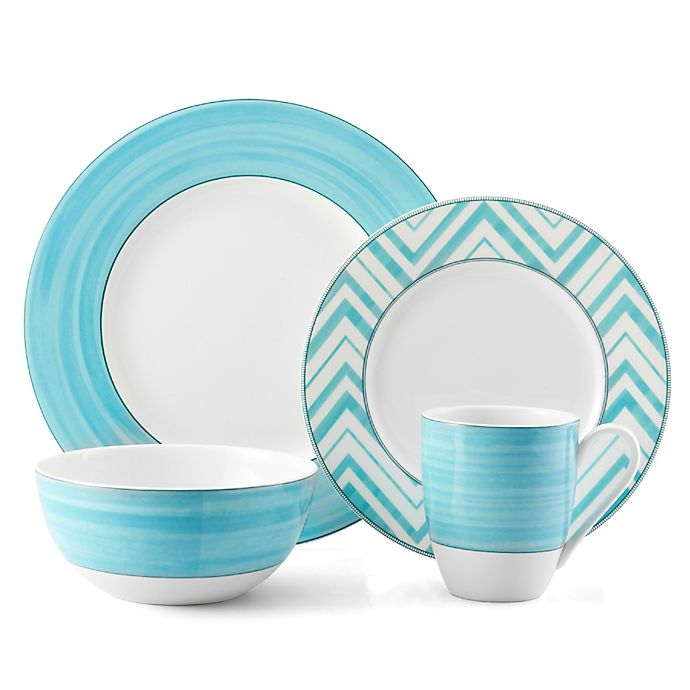 Alternate image 1 for Mikasa® Cadence Teal 4-Piece Place Setting