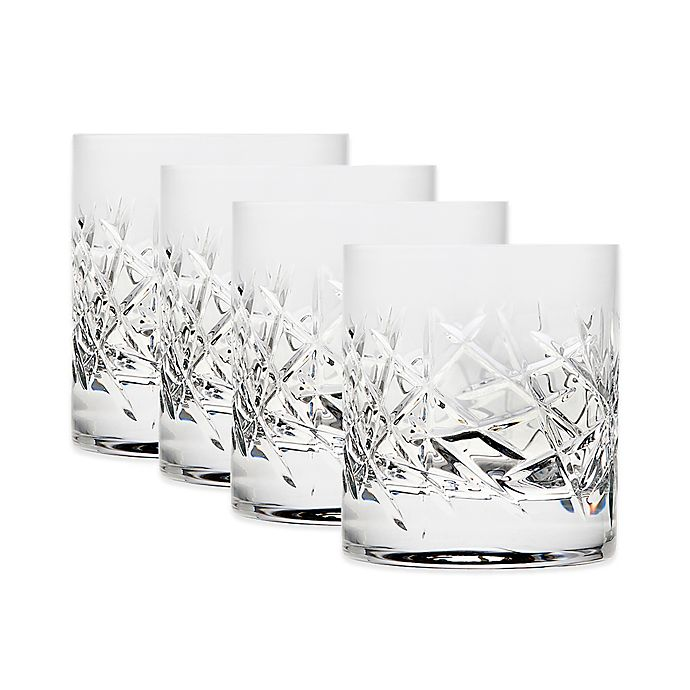 Alternate image 1 for Top Shelf Graffiti Double Old Fashioned Glasses (Set of 4)