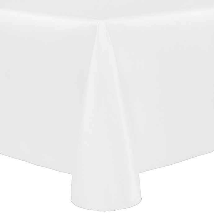 Alternate image 1 for Majestic 60-Inch x 90-Inch Tablecloth in White