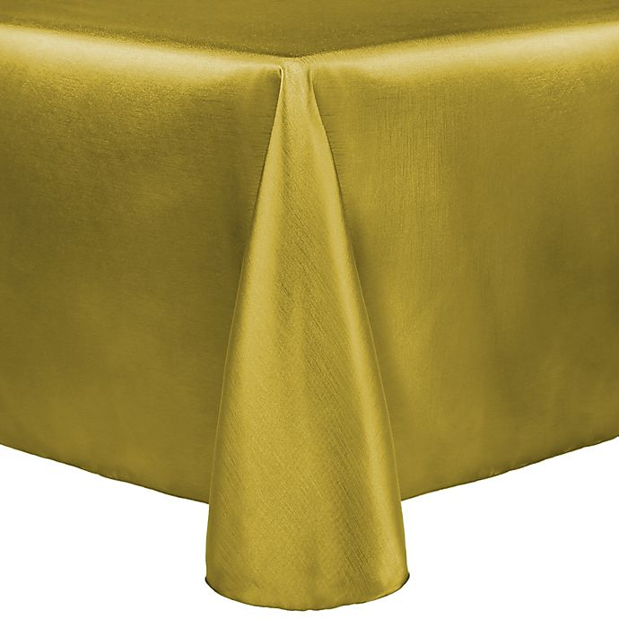Alternate image 1 for Majestic 60-Inch x 90-Inch Tablecloth in Gold