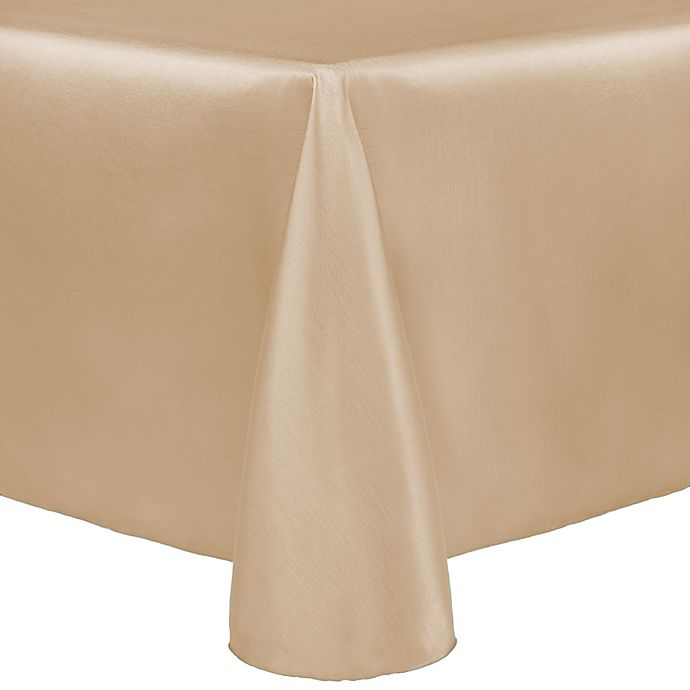 Alternate image 1 for Majestic 60-Inch x 90-Inch Tablecloth in Beige