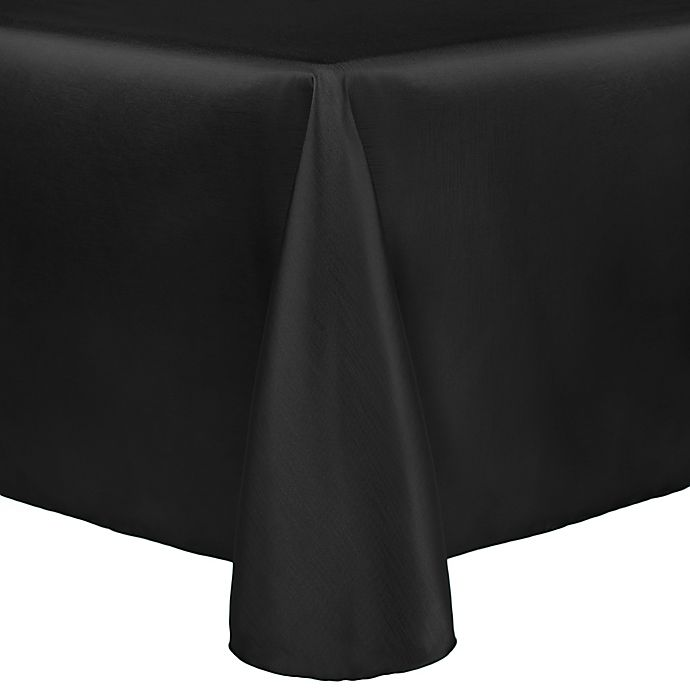 Alternate image 1 for Majestic 60-Inch x 90-Inch Tablecloth in Black