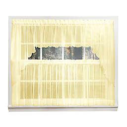 Emelia 14-Inch Sheer Window Valance in Yellow