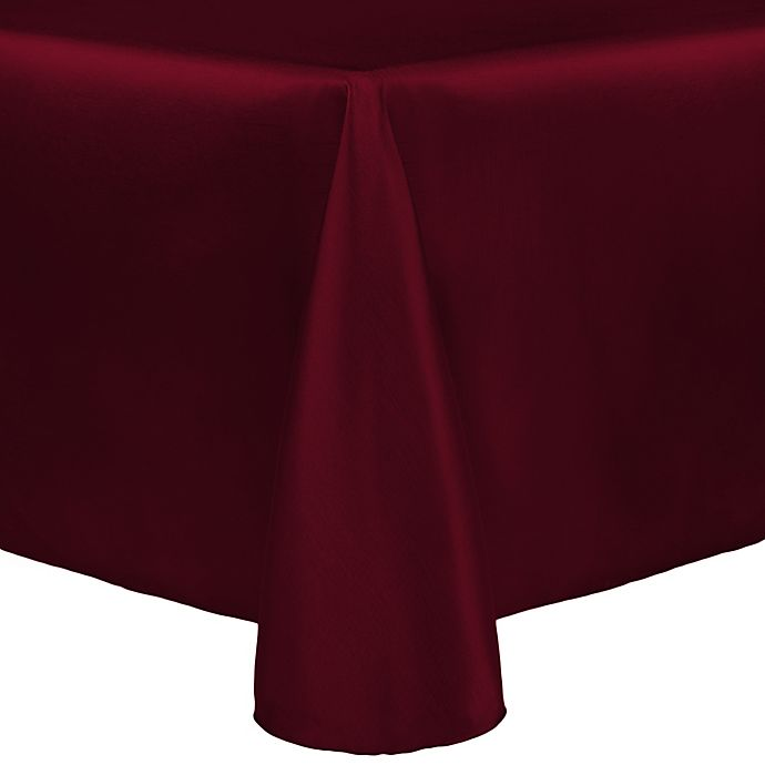 Alternate image 1 for Majestic 90-Inch x 132-Inch Tablecloth in Burgundy