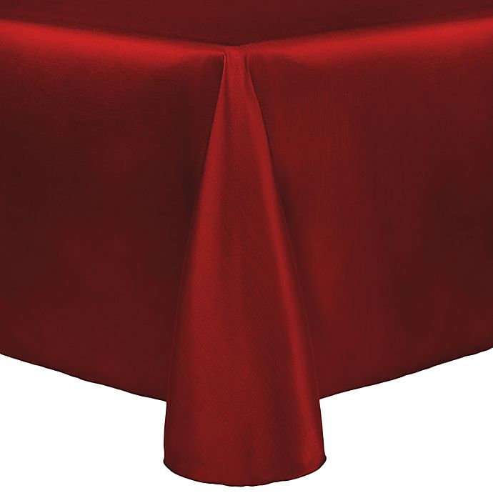 Alternate image 1 for Majestic 90-Inch x 132-Inch Tablecloth in Holiday Red