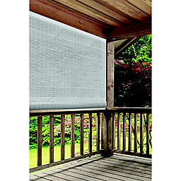 Farmhouse Roll-Up Cordless 96-Inch x 72-Inch Oval Shade in White