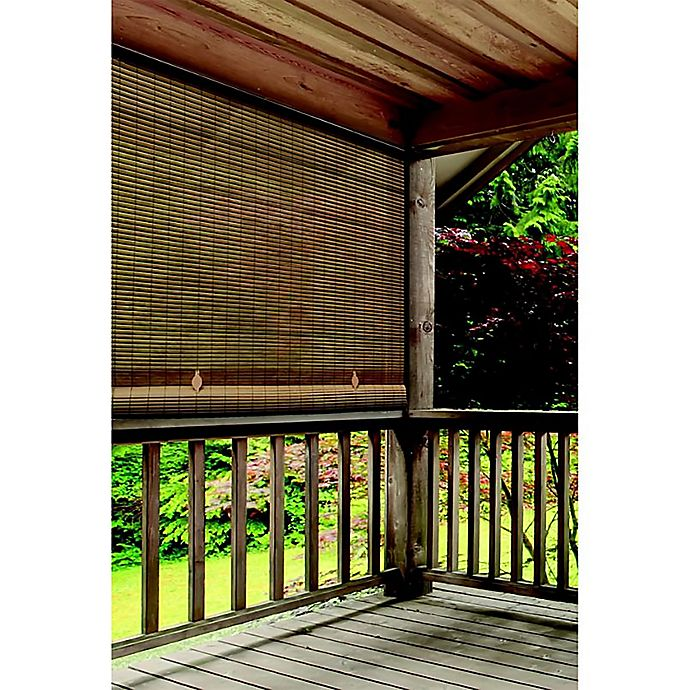 Alternate image 1 for Farmhouse Roll-Up Cordless Oval Shade