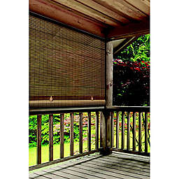 Farmhouse Roll-Up Cordless 48-Inch x 72-Inch Oval Shade in Woodgrain