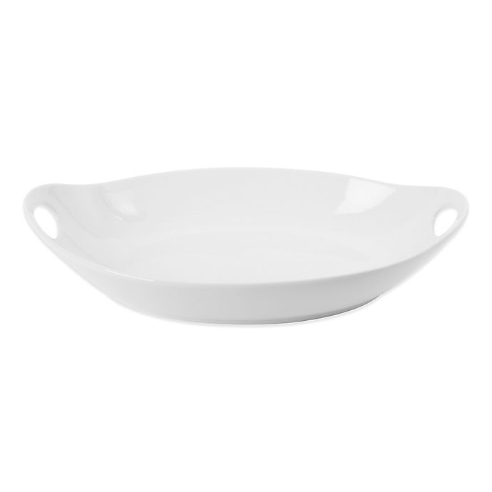 Alternate image 1 for Everyday White® by Fitz and Floyd® Handled Oval Serving Bowl