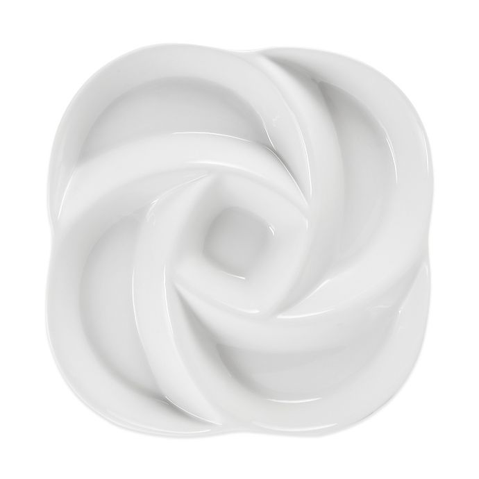 Alternate image 1 for Everyday White® by Fitz and Floyd® Swirl Chip and Dip 5 Section Server