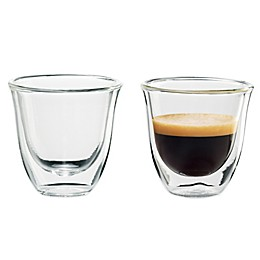 De'Longhi Double Wall Thermo Espresso Glasses (Set of 2)