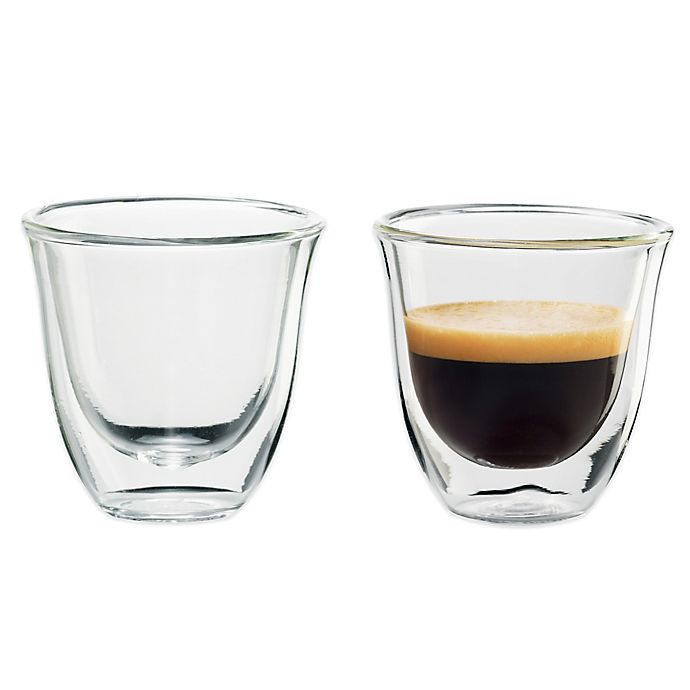 Alternate image 1 for De'Longhi Double Wall Thermo Espresso Glasses (Set of 2)