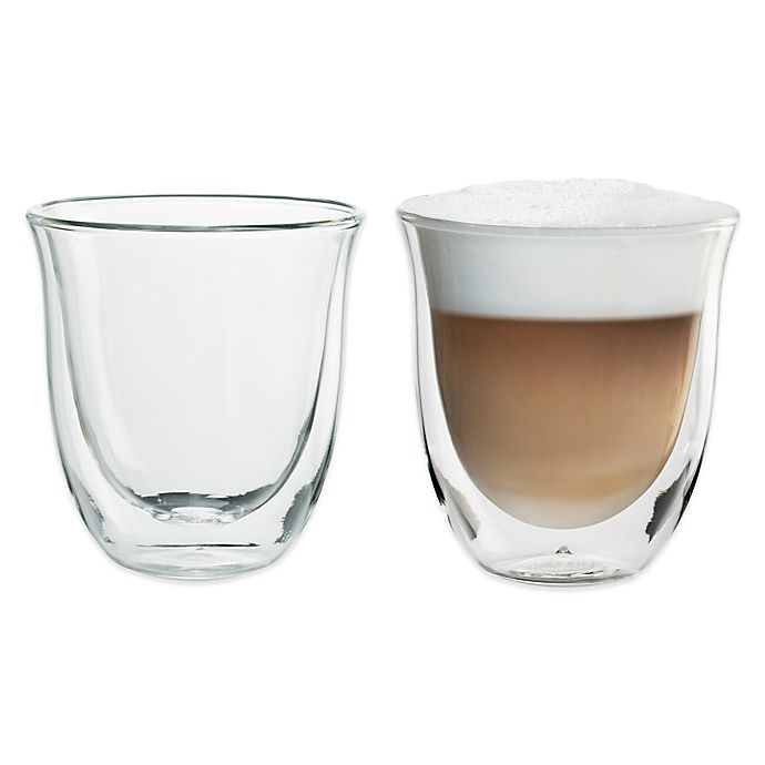 Alternate image 1 for De'Longhi 6 oz. Cappuccino Glasses (Set of 2)