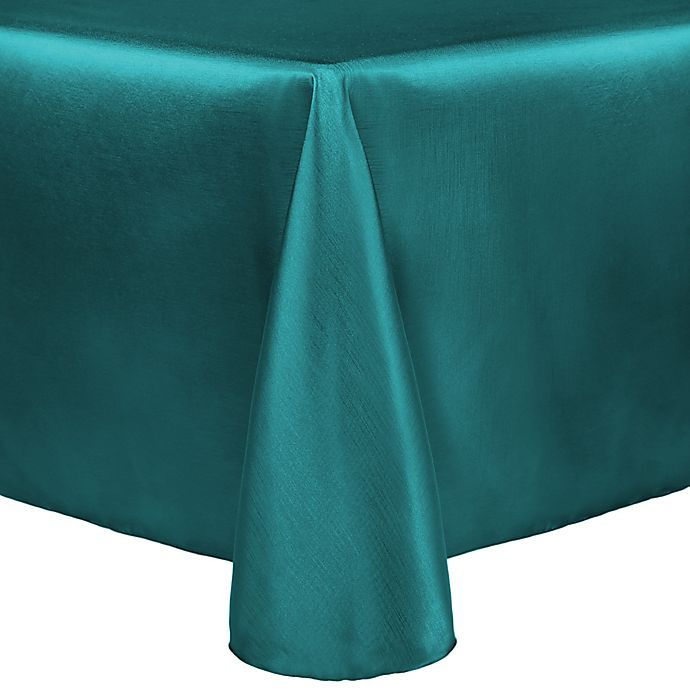 Alternate image 1 for Majestic 90-Inch x 132-Inch Tablecloth in Teal