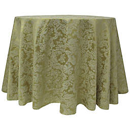 Miranda Damask 90-Inch Round Tablecloth in Sage