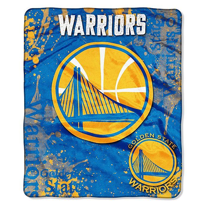 Nba Golden State Warriors Super Plush Raschel Throw Blanket Bed