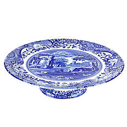 Spode® Blue Italian Footed Cake Plate