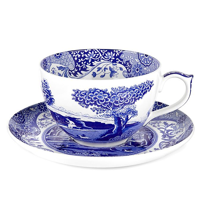 Alternate image 1 for Spode® Blue Italian Jumbo Cup and Saucer